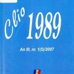 Alexandru Osca, Clio 1989, Nr. 1(5), 2007