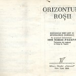 Ion Mihai Pacepa, Orizonturi rosii